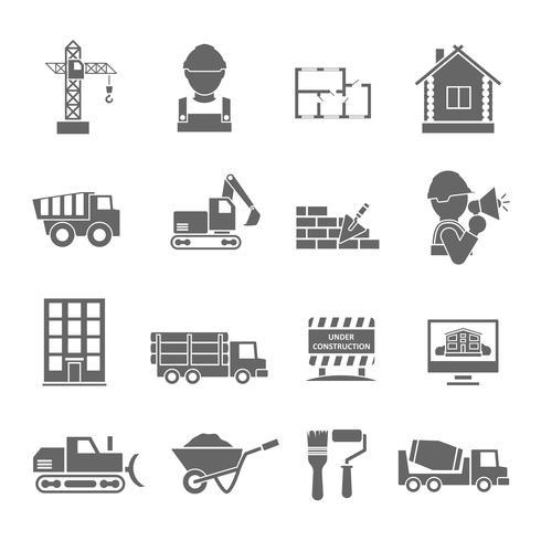 Bouw Icons Set vector