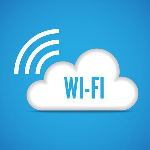 Wi-Fi cloud embleem pictogram vector