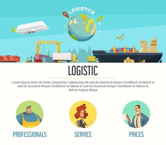 Logistiek paginaontwerp vector