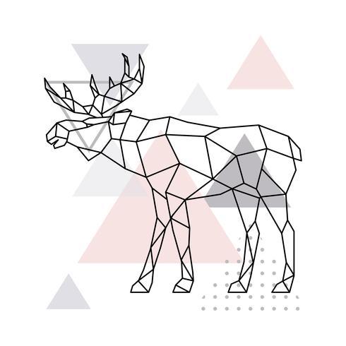 Scandinavische eland, zijaanzicht. vector
