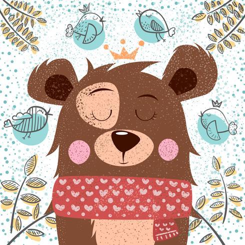 Leuke winter illustratie. Beren tekens. vector