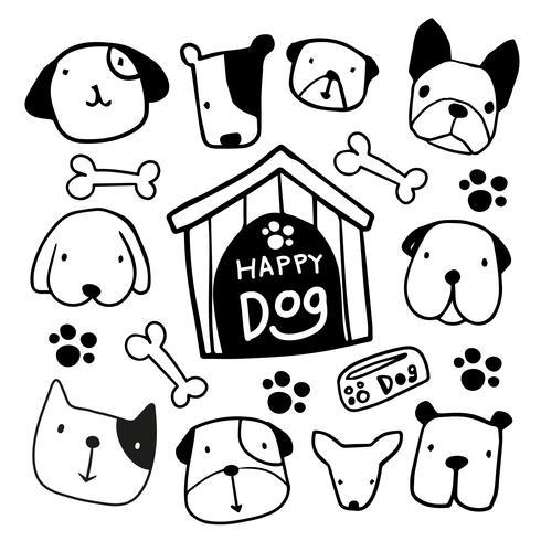 honden karakter vector