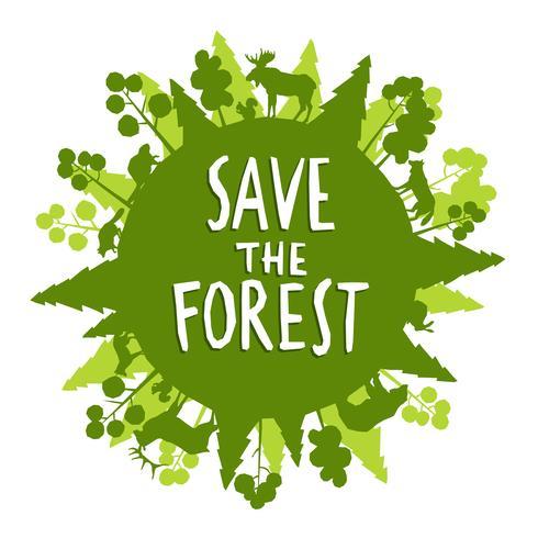 Red het Forest Concept vector