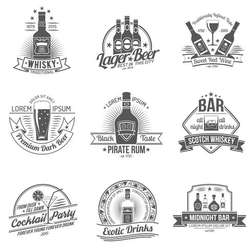 Alcohollabelset vector
