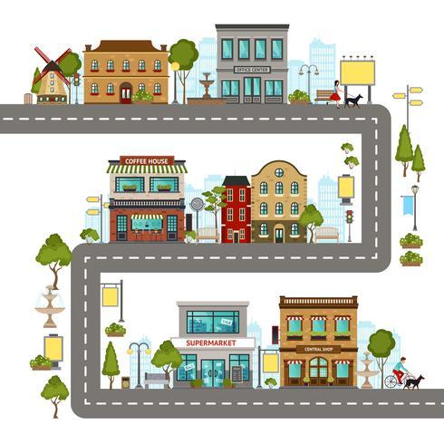 stads straat illustratie vector