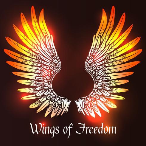 Wings schets illustratie vector