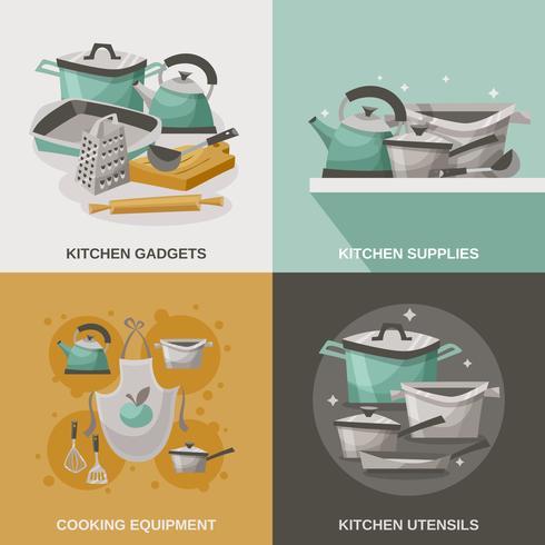 Keukenapparatuur Icons Set vector