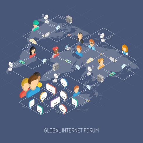 internet forum concept vector