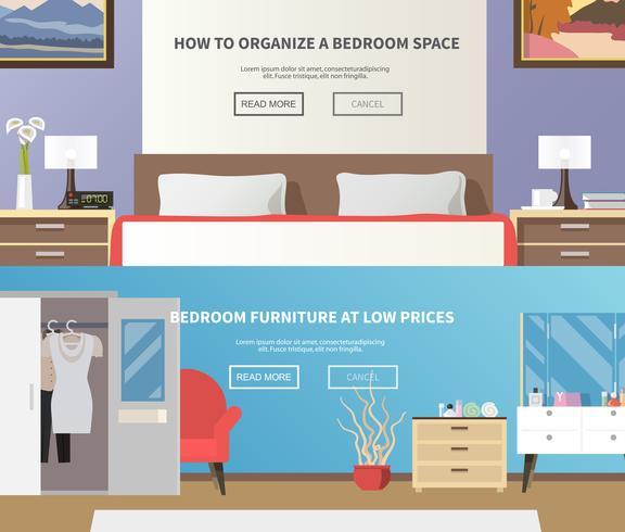 Slaapkamer meubelbanner vector
