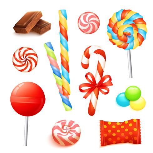 Candy Realistische set vector