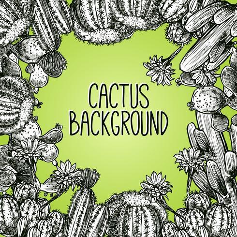 Cactus schets frame vector