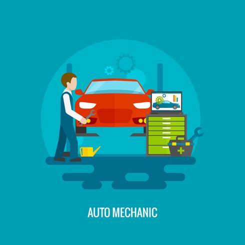 automonteur plat vector
