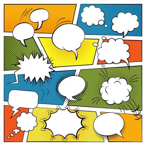 Lege komische bubbels Set vector