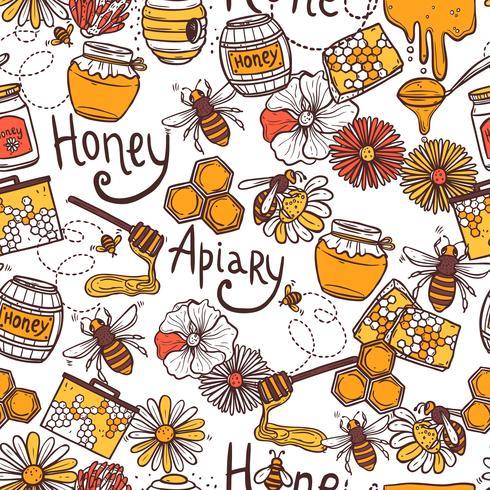 Honing naadloze patroon vector
