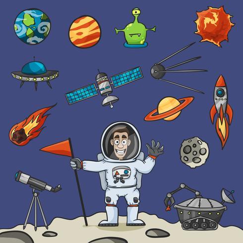 ruimte elementen instellen vector