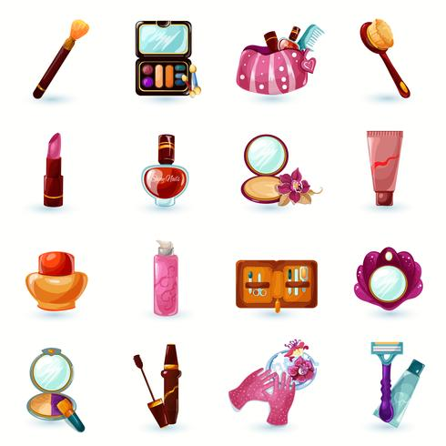 Cosmetica Icons Set vector
