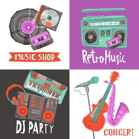Muziek Ontwerp Concept vector