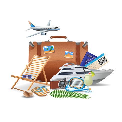 Toerisme en reisconcept vector