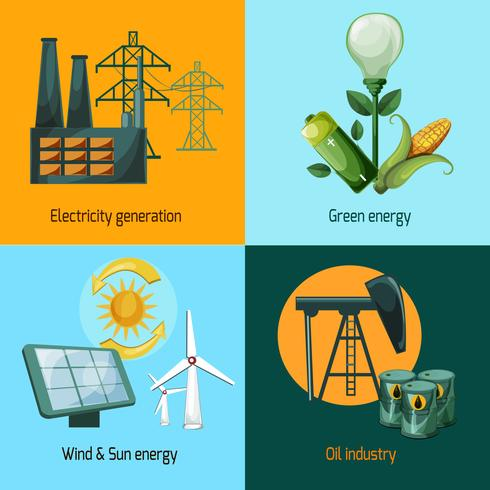Energie Icon Set vector