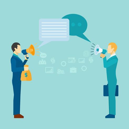 Zakelijke communicatie Poster vector