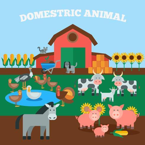 Huisdieren Concept vector