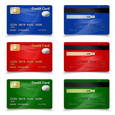 Creditcardontwerp vector