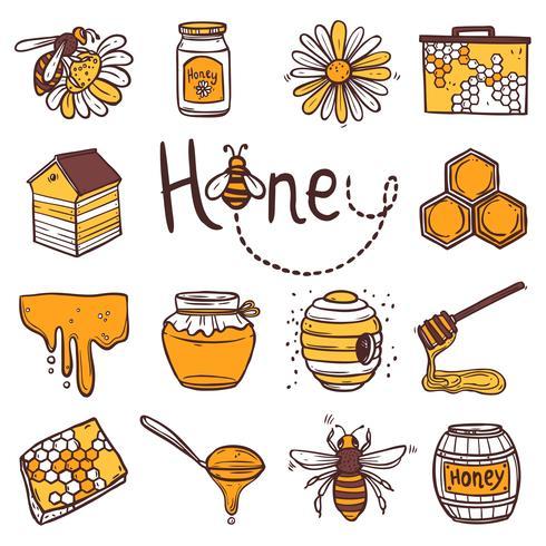 honing pictogrammen instellen vector