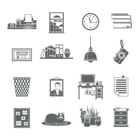 Werkplek Icons Set vector