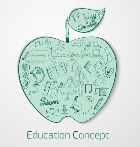 Onderwijs Doodle Concept vector