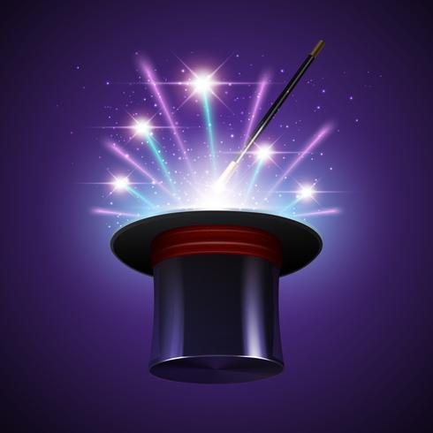 Magic Hat-achtergrond vector