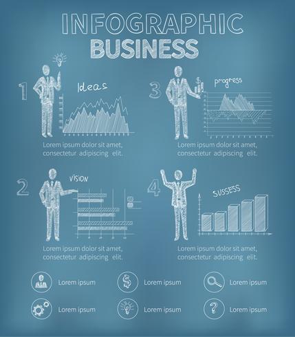Schets zakelijke infographics vector