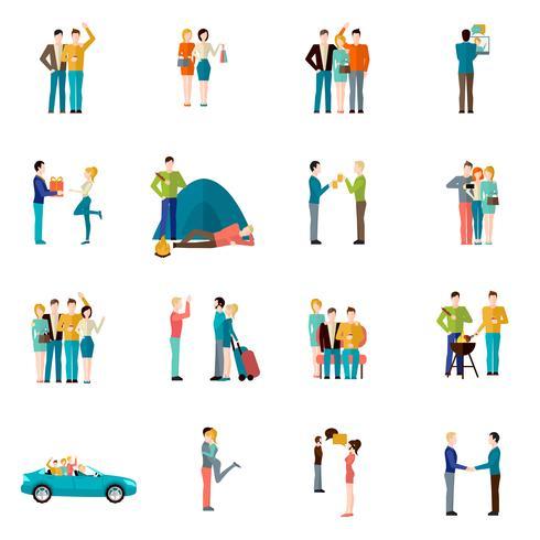 Vrienden Icons Set vector