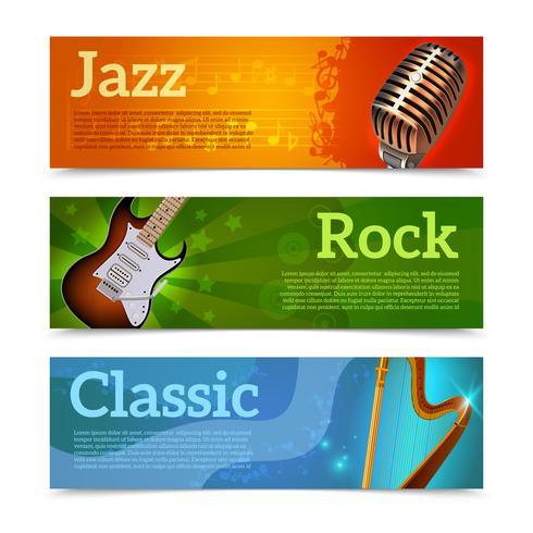 Muziekfestival Banners vector