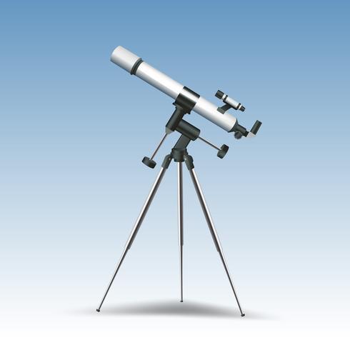 Telescoop realistische afbeelding vector