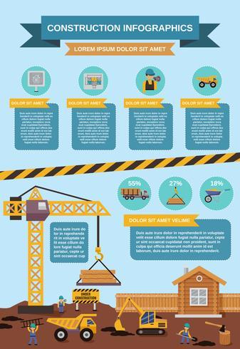 Bouw Infographics Set vector