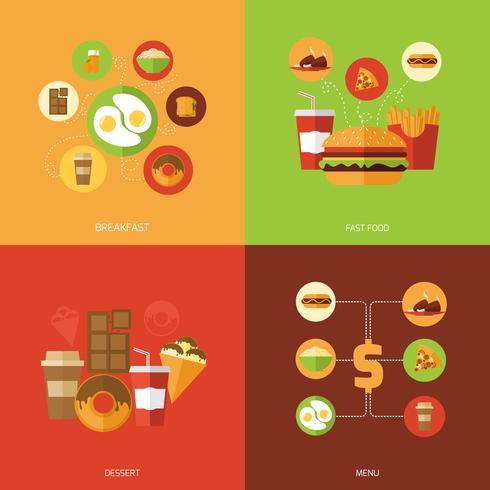 fast food ontwerpconcept vector