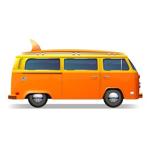 Surfbus realistisch vector