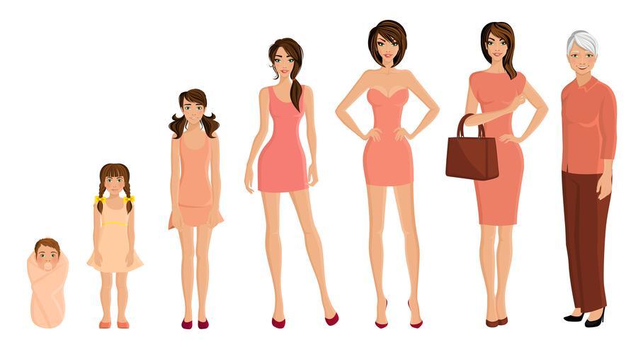 Generatie vrouwenset vector