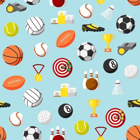 Naadloze sport patroon achtergrond vector