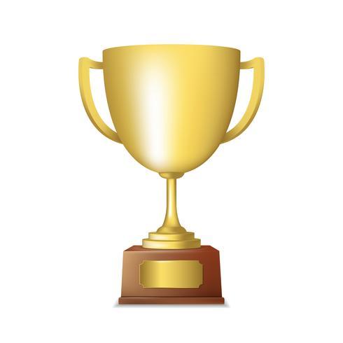Gouden trofee embleem vector