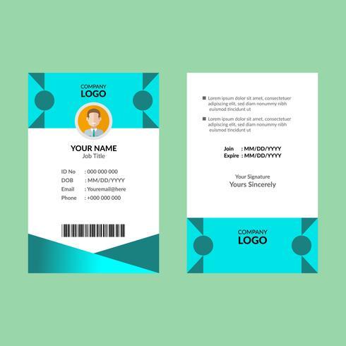 Cyaan ID-kaart 10 vector