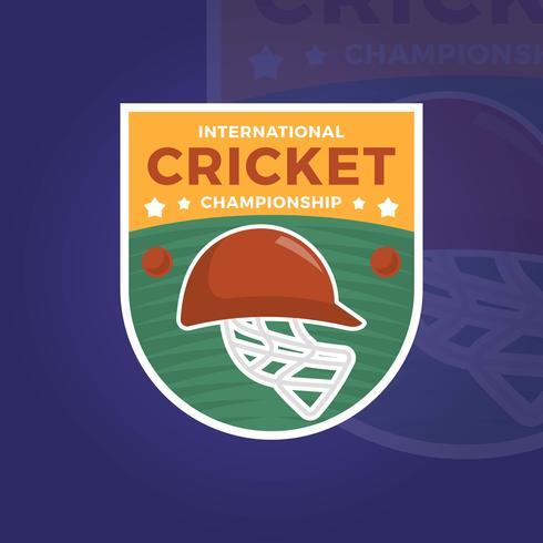 Flat National Cricket Championship vector