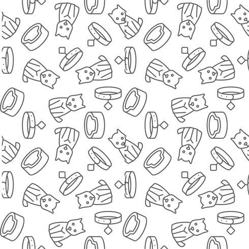 hond overzicht pictogram naadloos patroon ze voor gebruik als inpakpapier vector