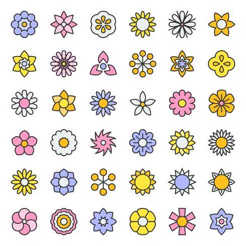 bloem en bloemen vector