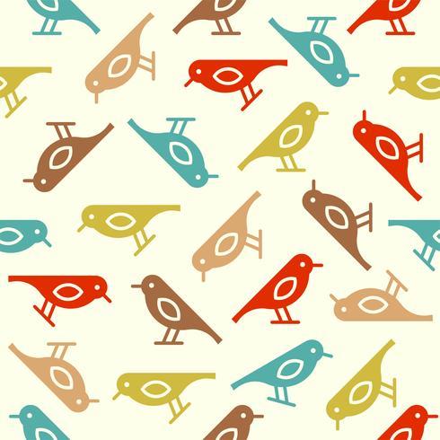 kleurrijke schattige vogel naadloze patroon, vallen thema vector