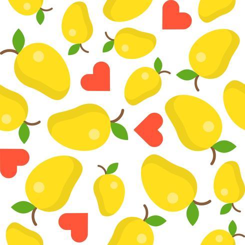 mango lover naadloze patroon voor behang of inpakpapier vector