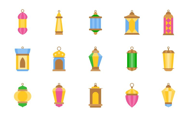 Arabische lamp of ramadanlantaarn vector