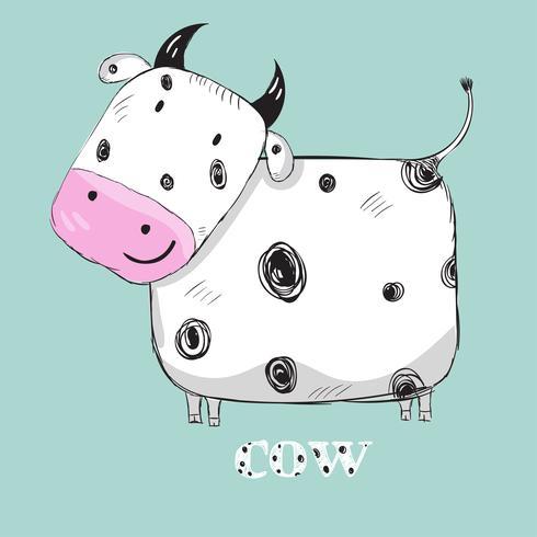 Schattige baby koe vector