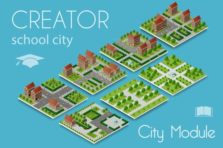 Maker van de stadsmodule vector