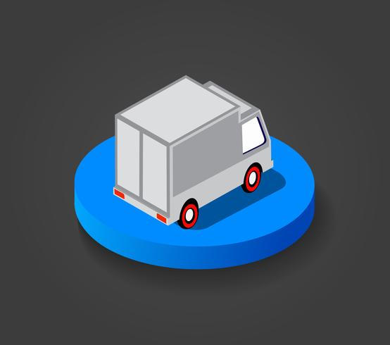 Bovenaanzicht isometrisch voertuig vector